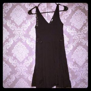 Simple cotton lace back v dress